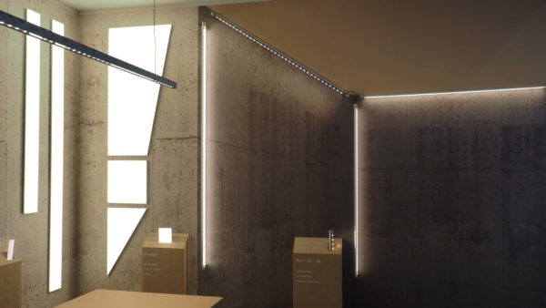 STAND AT LIGHT +BUILDING